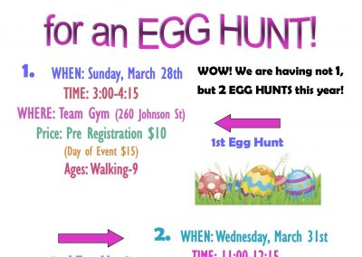 2021 egg hunt flyer